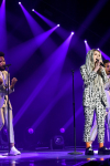"THE FOUR: BATTLE FOR STARDOM: Season one contestant Zhavia (C) performs in the ""Week Seven"" episode of THE FOUR: BATTLE FOR STARDOM airing Thursday, July 26 (8:00-10:00 PM ET/PT) on FOX. CR: Ray Mickshaw / FOX. © 2018 FOX Broadcasting Co."