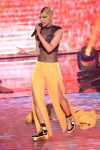 "THE FOUR: BATTLE FOR STARDOM: Contestant Sharaya J performs in the ""Week Seven"" episode of THE FOUR: BATTLE FOR STARDOM airing Thursday, July 26 (8:00-10:00 PM ET/PT) on FOX. CR: Ray Mickshaw / FOX. © 2018 FOX Broadcasting Co."